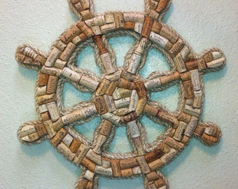 Wine Cork Ships Wheel