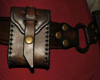 leather hip belt assembly