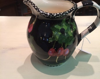 Droll Hand Painted Pitcher