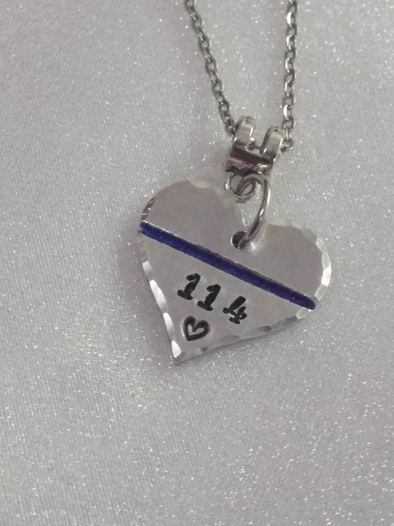 Back the Blue - Blue Lives Matter - LEO Support - Thin Blue Line Necklace- Police Wife Jewelry - Policewoman Necklace - Police Support - LEO