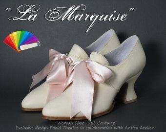ALL COLOURS 730_70P- 18 century shoes - Marie Antoinette shoes - 18 th.- scarpa settecento donna tutti i colori