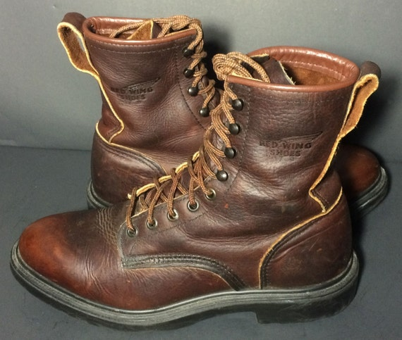 Red Wing® 931 Brown Leather 8 inch Work Boots Men's Size 8