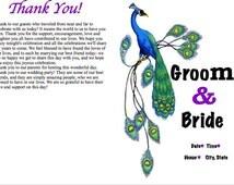 Peacock-themed Wedding Program Template