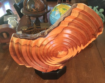 Wood Sculpture Art - Geometric - Concentric Circles