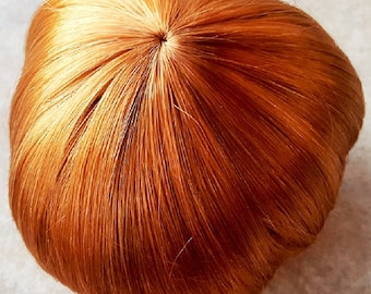 "11"" - 12"" Boy or Girl Doll Wig, ""Infant"", Carrot Red, Monique, Modacrylic, Free Shipping, New"