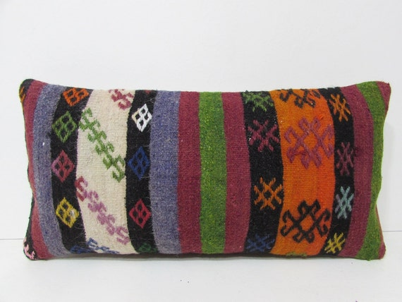 decorative pillow long throw pillow ethnic pillow cover floor