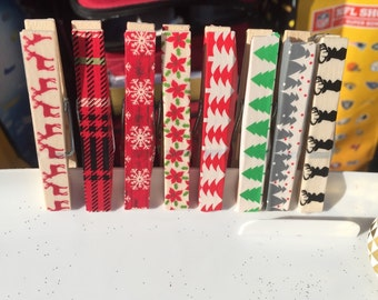 Decorative clothes pins to hold christmas cards or anything you can think of!
