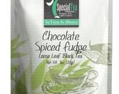 3 oz. Chocolate Spiced Fudge Loose Leaf Black Tea with Free Tea Infuser