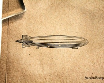 Dirigible Rubber Stamp - 3 x 2 inches