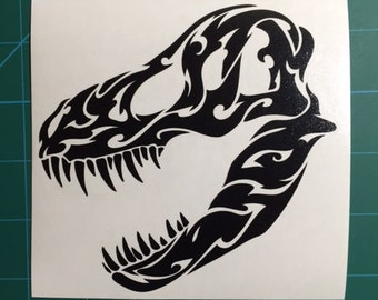 Tribal T-Rex Decal 5x5