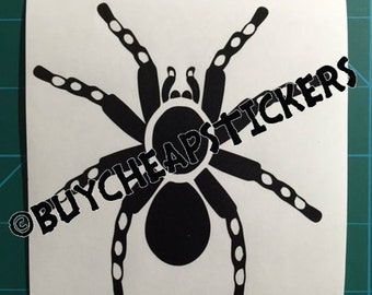Tarantula Spider #2 Decal - Sticker 2x2 Any Color