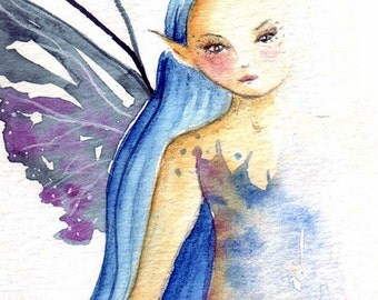 Barely There/Original Watercolour Painting/Fairy Art/Fairy/Faerie Art/Original Art