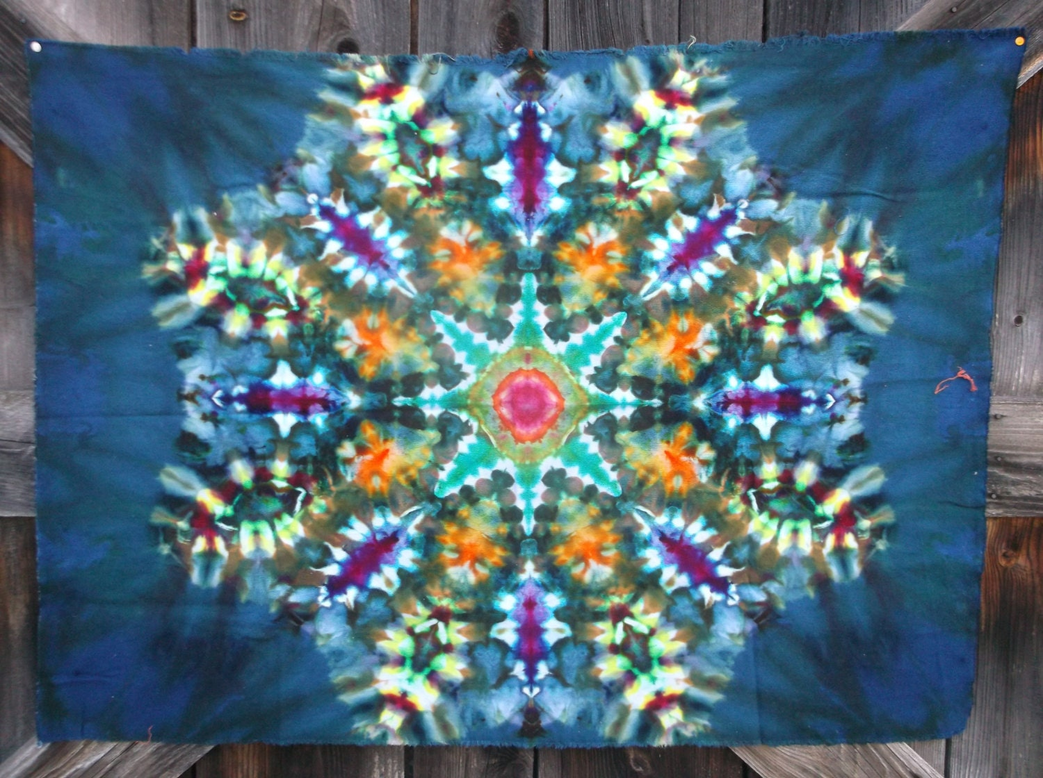 dyed tie dye tapestry