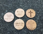 "Custom 1.5"" Wood Coins - Double Side"