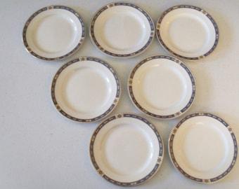 W M Grindley & Co Set Of Seven Plates