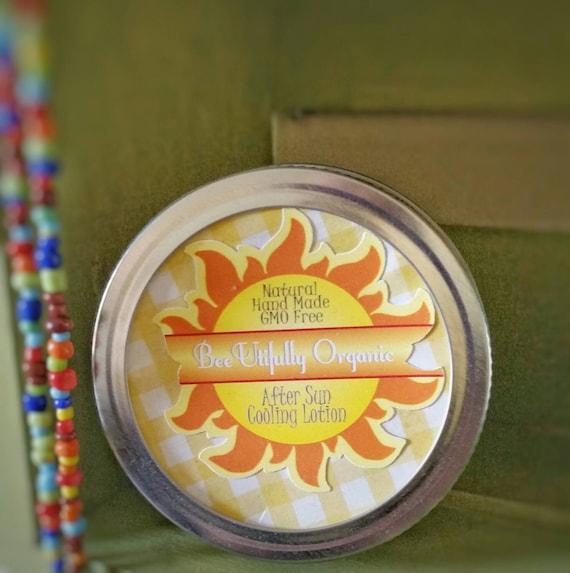 Sunburn Relief - Aloe Lotion - After Sun Cooling - Body & Face Lotion with Organic Aloe And Essential Oils - Moisturizer - Aloe Moisturizer