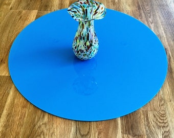 Round Worktop Saver in Bright Blue Acrylic - 3 Sizes Available
