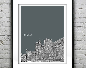 Cohoes New York Skyline Poster Art Print New York NY Version 2