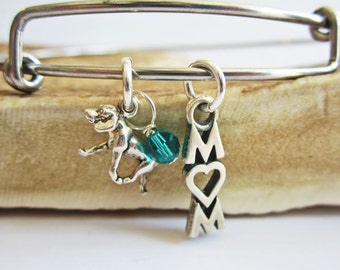 """Retriever Mom Stackable Bangle Bracelet (2.5""""-3"""")"""