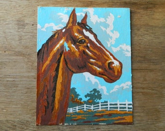 Vintage Paint by Number Horse.