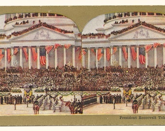 Teddy Roosevelt Inauguration #2 Stereo View, 1905