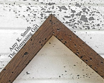16x20 Picture Frame Dark Rustic Brown Thin 16 by 20 Barn Wood Beach Frame One Inch Thick