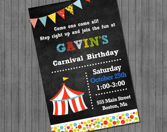 FLASH Carnival Birthday Invitation