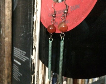 Coil earrings, handmade
