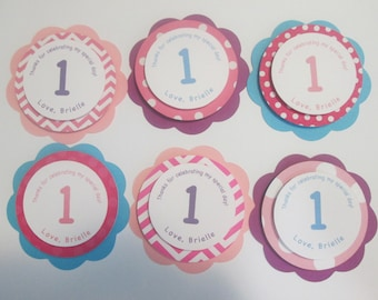 Set of 12 tags