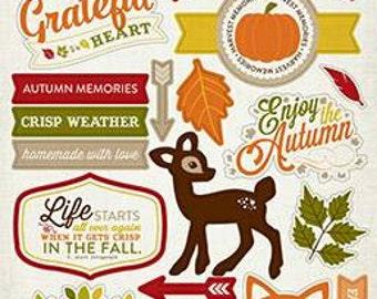 Carta Bella Chipboard Accents - A Perfect Autumn