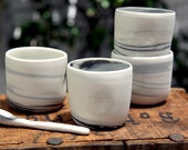 Handmade Ceramic Mugs with Colour Swirls; Great for Espresso, Small Tea and Hot Chocolate. Small