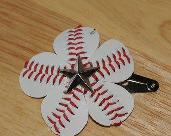 Star Studded All Star Baseball Hair Clip