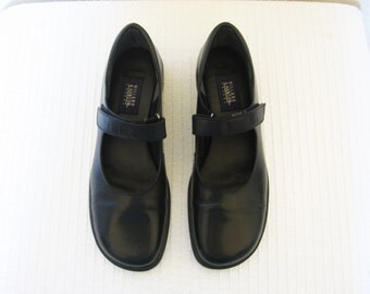 Black Leather Mary Janes / 8.5 women's shoes