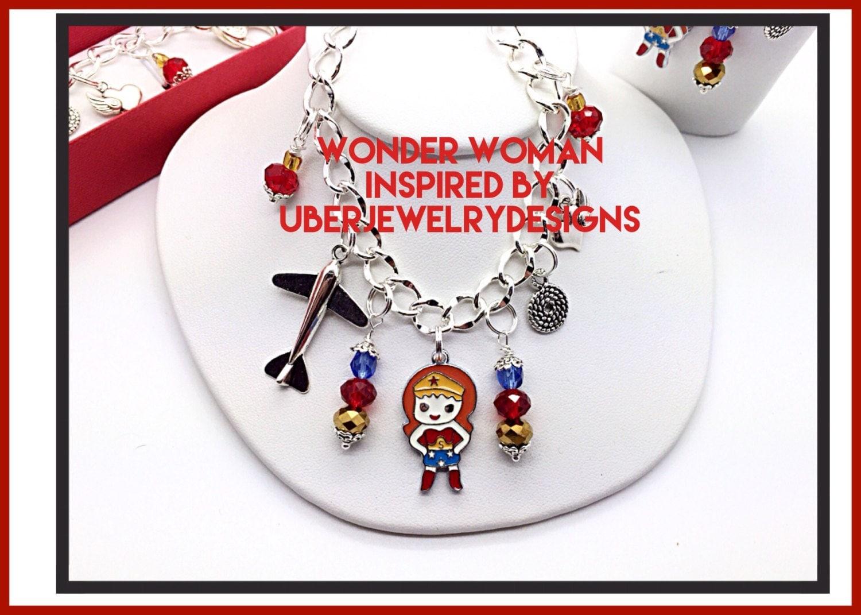 wonder woman inspired jewelry trending by uberjewelrydesigns. Black Bedroom Furniture Sets. Home Design Ideas