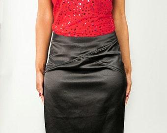 Jacey Pencil Skirt {black}