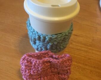 Teacher Gift--Basketweave Coffee Cup Sleeves Custom (Set of Two)