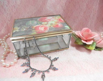 Vintage Rose Trinket Box
