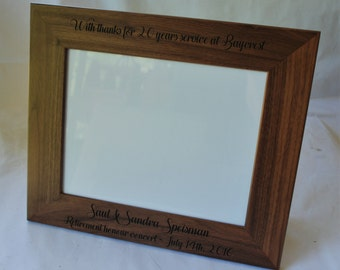 4x6 laser engraved walnut picture frame custom picture frame personalized picture frame 4x6