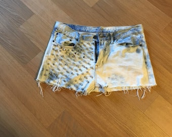Spiked Distressed Shorts