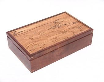 Walnut and Maple Felt Lined Box