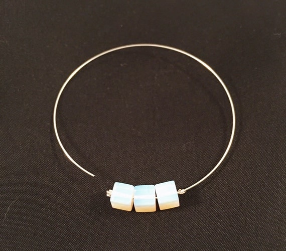 Hoop Dazzle! Silver bohemian hoops with milk glass squares