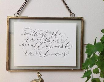 Calligraphy print - rainbows