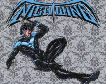 Nightwing: DC Comics fabric print