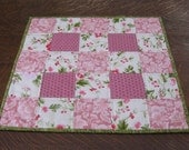 Quilted table topper, table topper, quilted candle mat, candle mat, patchwork table topper, patchwork table linens