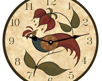 Peafowl Clock