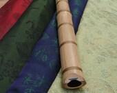 Custom Silk Flute Bag, Padded & lined with a Vapor Barrier, Flute Gig Bag, Shakuhachi or Native Protective Flute Bag, Silk instrument bag