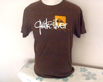 QUIKSILVER Brown Tshirt M Made in Maxico