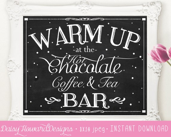 Christmas Grinch Quote 8 X 10 Digital Print Instant By: INSTANT DOWNLOAD Printable Hot Chocolate Coffee And Tea Bar
