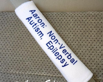 Medical Alert Seat Belt Strap Cover