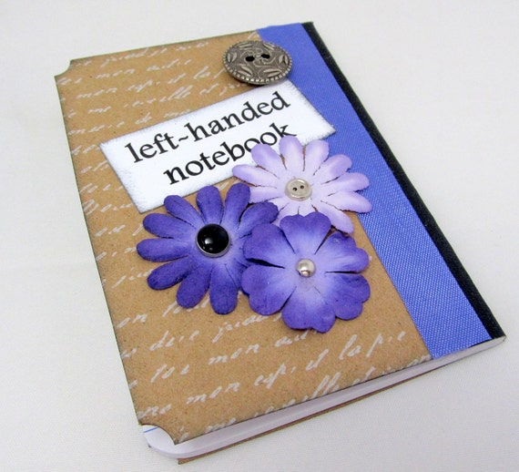 Left Handed Notebook Left Handed Mini By PrettyByrdDesigns